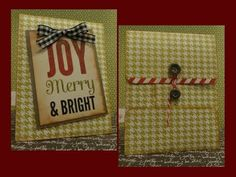 Christmas in July Policy Envelope Gift Holder Christmas In July, Christmas Crafts, Handmade Envelopes, Envelope Punch Board, Album Book, Merry And Bright, Fun Projects, Mini Albums, Book Art