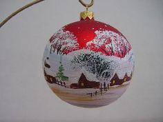 hand painted glass ball ornamnets christmas decoration