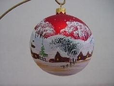 hand painted glass ball ornamnets christmas decoration
