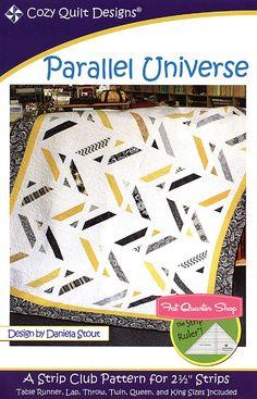 Parallel Universe Quilt Pattern Cozy Quilt Designs #CQD-1097 - Fat Quarter Shop