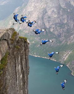Great Photos of Base Jumping in norway Wingsuit Flying, Paragliding, Windsurfing, Base Jumping, Skydiving, Rafting, Great Photos, Adventure Time, Norway