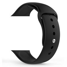 MoKo Apple Watch Band, Soft Silicone Replacement Sport Band for 42mm Apple Watch Models, BLACK (3 Pieces of Bands Included for 2 Lengths, Not Fit 38mm version 2015)  #2015 #38mm #42MM #Apple #band #Bands #Black #Included #Lengths #Models #MoKo #Pieces #Replacement #Silicone #soft #Sport #version #Watch MonitorWatches.com