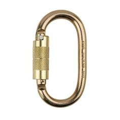 Steel Self Lock Carabiner. From the CapitalWorkwear Fall Arrest Systems Range. D carabiner with quarter turn lock, Length: 123mm, opening: 27mm. Breaking load: 35kN