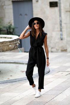 Makeup & Hair Ideas: Combi ample et chapeau Mode femme élégante et tendance Blogueuse Consultante e