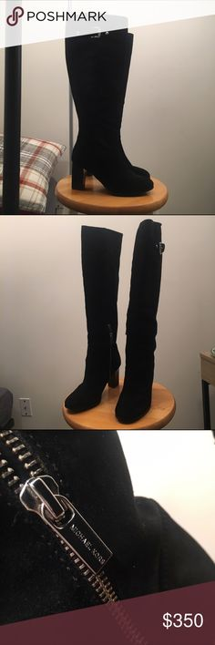 Black Suede Michael Kors Below The Knee Boots In excellent condition, only been worn twice! Originally bought for $350, selling for $125 or best offer :) KORS Michael Kors Shoes Over the Knee Boots