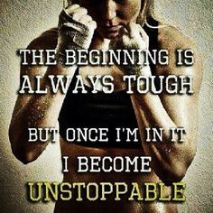 The beginning is always tough but once I'm in it, I become unstoppable. http://www.qualiproducts.com