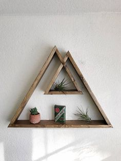 Desert Peaks Collection Desert Shelf Triangle Shelf - Apr New Shelf Design Dimensions Deep If You Want It Finished In Another Color Please Just Leave Me A Note If Youre Interested In Commission Work Custom Orders Diy Wood Projects, Woodworking Projects, Projects To Try, Woodworking Equipment, Woodworking Patterns, Woodworking Classes, Woodworking Tools, Geometric Shelves, Triangle Shelf