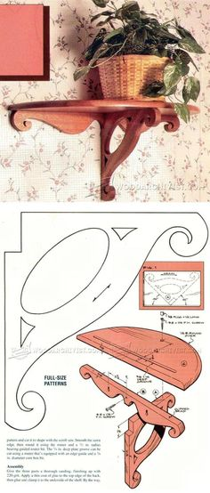Victorian-Style Wall Shelf Plans - Woodworking Plans and Projects | WoodArchivist.com #WoodworkingPlans
