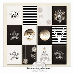 Free Jolly Season Journaling Cards from Natali Design