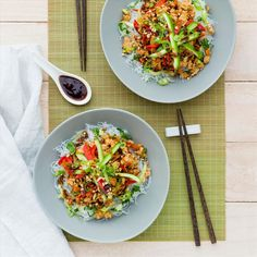 Vietnamese Mince and Vermicelli Bowls - My Food Bag Easy Delicious Recipes, Healthy Recipes, Tasty, Healthy Food, Turkey Mince, Sweet Chilli Sauce, Asian Recipes, Ethnic Recipes, Fodmap Recipes