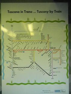 Viajando de trem pela Toscana - Itália