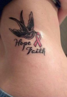 Breast cancer tattoo-would change it to a hummingbird for my grams tho <3
