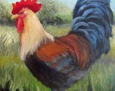 Reservado para R gallo pintura para por OilPaintingsByCheri