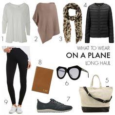 What to wear on a plane - long haul flight