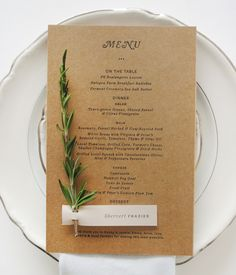 #menu #wedding #reception #party #details #papergoods #dayofstationery #custom #stationery #design
