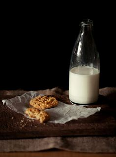 Rustic ANZAC cookies and milk  BY Hannah Blackmore photography