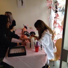 Nails being done at the Amy Winehouse Foundation Pop Up Shop