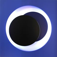 Lightsculpture by Geneviève Claisse. Circles, Planets, Artwork, Graphic Design, Celestial, Contemporary, Outdoor, Blue, Outdoors