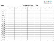 Printable Time Management Charts