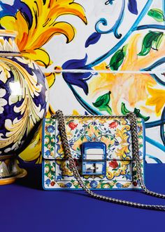 Discover the new Dolce & Gabbana Women's Maiolica Collection for Fall…