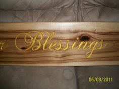 Custom CNC Carved Sign