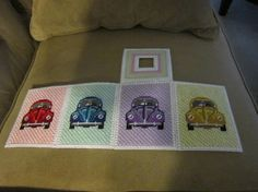 This tissue box is for the classic Volkswagen Beetle fan. Each side has the car in different colors. Stitched on plastic canvas. Plastic Canvas Tissue Boxes, Plastic Canvas Crafts, Plastic Canvas Patterns, Volkswagen, Kleenex Box, 10 Count, Concorde, Tissue Box Covers, Canvas Ideas