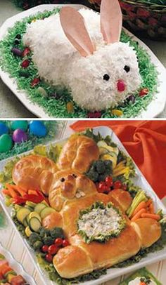 Easter ideas inspired by meaningful images and familiar characters bring creative food design ideas for gorgeous presentation that makes Easter meals and treats look more interesting and taste better.