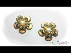 Tutorial con perline rose petal: ciondolo Fiorilà. - YouTube