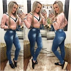 La imagen puede contener: 3 personas, personas de pie y calzado Cute Teen Outfits, Hot Outfits, Teenager Outfits, Outfits For Teens, Summer Outfits, Casual Outfits, Christmas Fashion Outfits, Sexy Jeans, Girl Fashion
