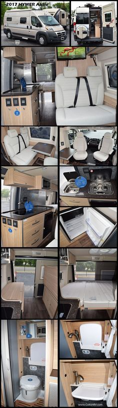 Get ready for your next adventure in this 2018 HYMER AKTIV Class B Motorhome. You will find a bench seat with folding table for meals or relaxing and a HD TV on a rotating bracket with remote and DVD player! The galley has a large sink, two burner stove, fridge and microwave. The wet bath has a flip up sink that can be stored in the upright position when not in use giving you more room to shower. In the back of this coach enjoy sleeping space for when you need to rest up or flip up for…