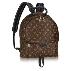 Palm Springs Backpack MM (€1.645) ❤ liked on Polyvore featuring bags, backpacks, backpack, louis vuitton, palm tree backpack, canvas bag, canvas backpack, brown bag and zip bag