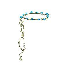 Blomkrans med små blå blommor