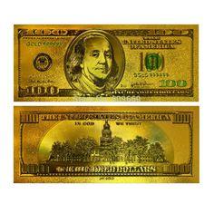 Cheap ( 10 unids/lote ) 24 K oro de billetes de colores USD 100 Dollar Bill 99.9 oro colección de billetes regalos envío gratis, Compro Calidad Metal Crafts directamente de los surtidores de China:     Inicio                     Productos de calidad 24 K lámina de oro Ucrania de billetes Reino unido...           P