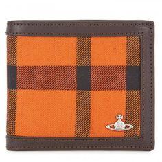 Vivienne Westwood Leather trimmed tartan wallet