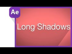 Long shadows in motion graphics tutorial - YouTube