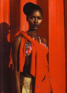 Sudanese-Australian Model Ajak Deng