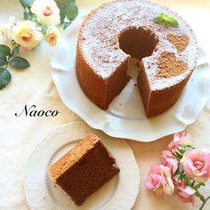 naocoisa's dish photo 大人ビターなシナモンチョコシフォン | http://snapdish.co #SnapDish #レシピ #バレンタイン #チョコレート #スイーツ祭り2016 #ケーキ #チョコレートの日(2月14日)