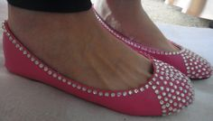 Rhinestone Ballet Flats - Hot Pink Sample 8