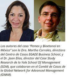 """El Centro de Casos de #EGADE y el Case Research Center de la Yale SOM lanzarán en enero 2015 el caso de estudio """"Pemex y Bioetanol en México"""", el segundo caso de estudio multimedia que se ofrecerá a los alumnos de las 27 escuelas de negocios internacionales miembros de la Global Network for Advanced Management (GNAM)."""