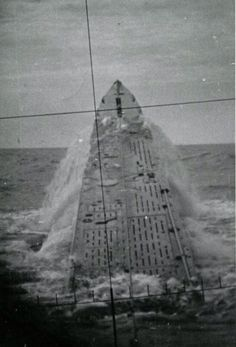 U-237 breaching the surface, North Atlantic, 1942.