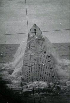 U-237 breaching the surface, North Atlantic, 1942.