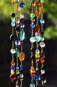 SORTED Bead curtain | Glass beads | Knots | Pretty dangly window things.