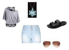 Untitled by weirdieme on Polyvore featuring City Chic, Ray-Ban and plus size clothing