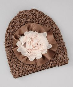 Love this Brown English Rose Crocheted Beanie by Stephan Baby on #zulily! #zulilyfinds http://www.zulily.com/invite/kcrim608