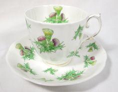 "Beautiful Royal Albert Cup Saucer ""Highland Thistle"" Bone China | eBay"