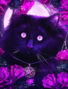 Popular items for cats and roses on Etsy