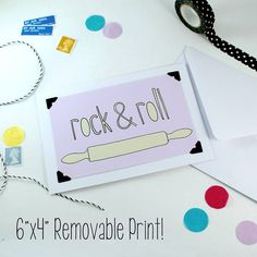 Rock N Roll Card And Print