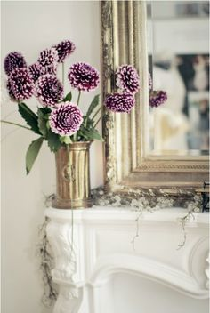 Japanese Mums loosely arranged in a beautiful vase ... informal and lovely
