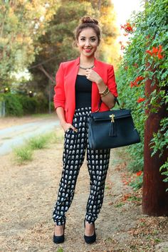 Printed Trousers - Dulce Candy | Ador