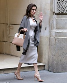 Sights: Earlier in the day, the actress went sightseeing in the French capital with her ch...